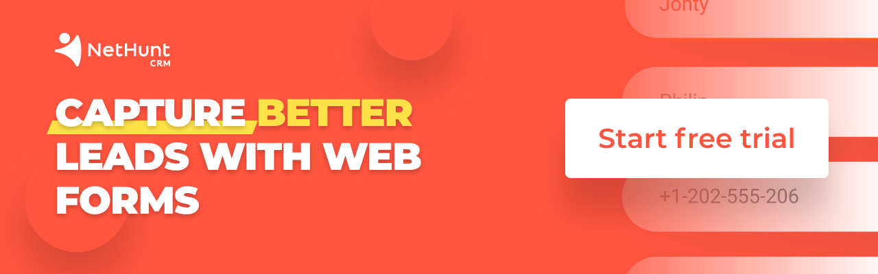 Try web forms, start your free trial today!