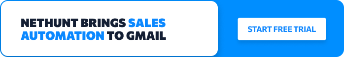 Sales Automation inside Gmail