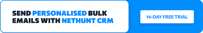 Send Personalised Sales Emails with NetHunt CRM