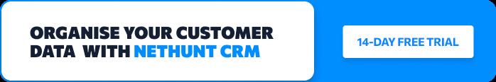 Organise customer data with NetHunt CRM