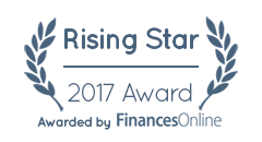 Rising Star Award by FinanceOnline
