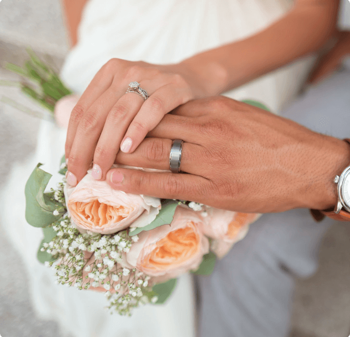 hands with rings photo