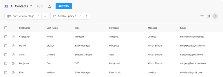 NetHunt CRM screenshot